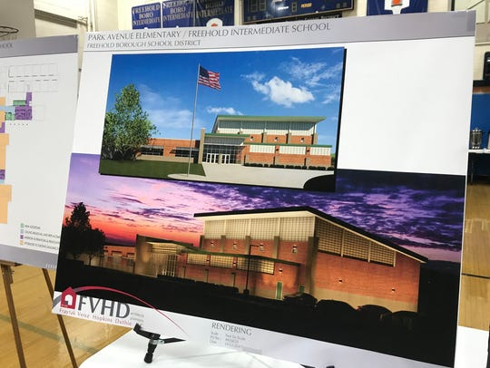 School officials share a rendering of the Park Avenue