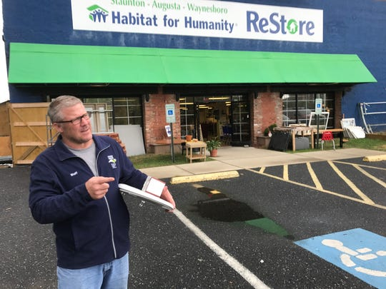 Habitat for Humanity Executive Director Lance Barton at the Habitat for Humanity ReStore in Staunton.