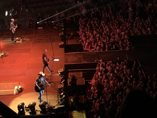 Jason Aldean and his band during an Oct. 14 at The