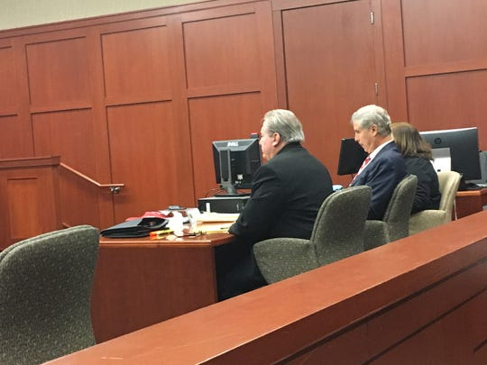 The corruption trial of former Brevard County Clerk of Court Mitch Needelman, shown, started Oct. 16, 2017. Prosecutors charge Needelman awarded an $8.52 million contract to a technology company to scan court records in exchange for contributions to Needelman's 2012 re-election campaign.