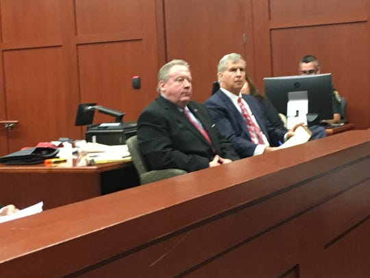 The corruption trial of former Brevard County Clerk of Court Mitch Needelman, left with his attorney Warren Lindsey, started Oct. 16, 2017. Prosecutors charge Needelman awarded an $8.52 million contract to a technology company to scan court records in exchange for contributions to Needelman's 2012 re-election campaign.