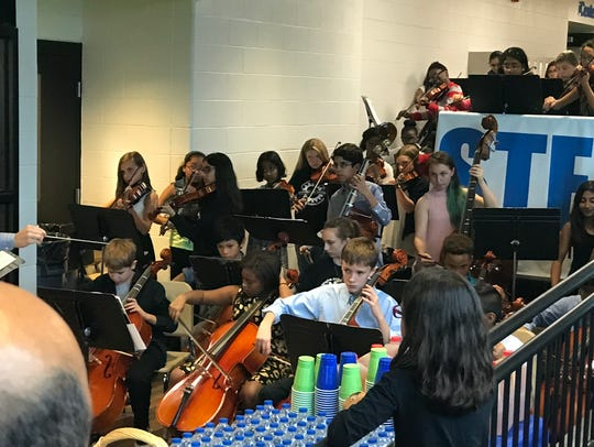 The STEAM Academy band provided the entertainment at