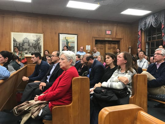 Residents at the Tuesday, Oct. 17, 2017, meeting of the Township Council.