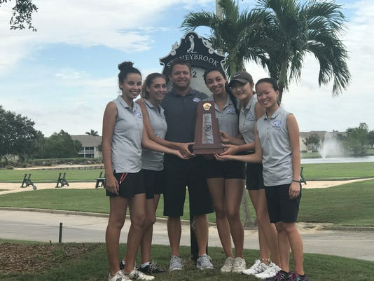 Canterbury takes the District 1A-17 Girls Golf Championship