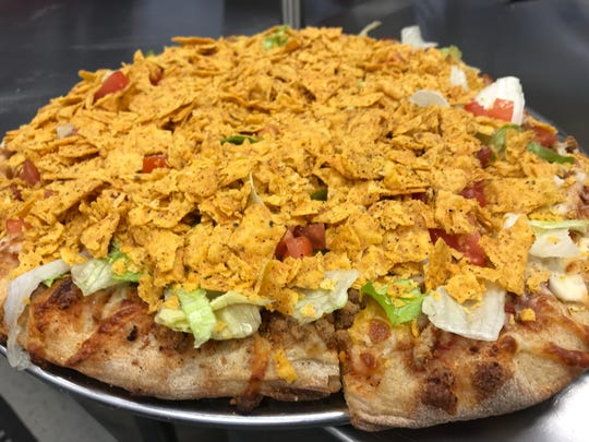 The Taco Pizza at Hometown Pizza in West Des Moines.