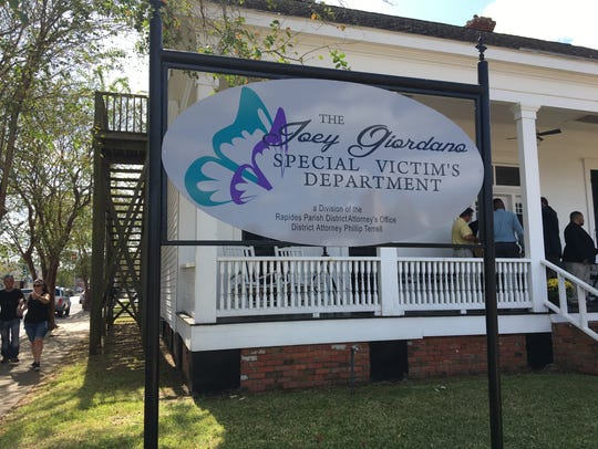 The Joey Giordano Special Victims Department opened on Oct. 4, 10 years since the Rapides Parish assistant district attorney, husband and father died in a downtown Alexandria shooting. Butterflies adorn the sign in front of the office, as well as inside.