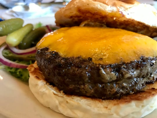 The lunchtime burger at Lagniappe Brasserie, 17400