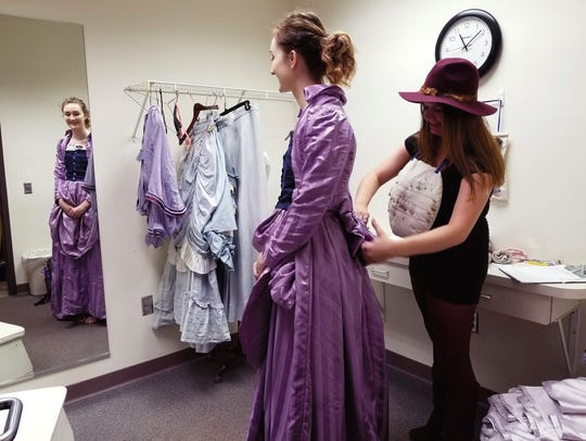 Senior Hilary Rubio,  costume designer,  works with