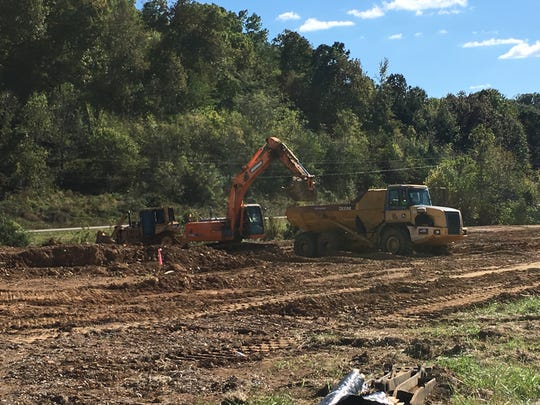 Crews have been excavating and spreading dirt at Stewart-Houston