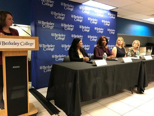 Left to right: Angela Harrington of Berkley College,