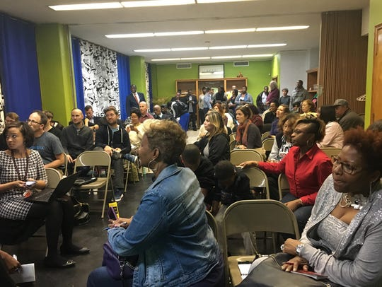 About 50 residents packeda community meeting to discuss