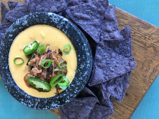 Queso with Smoked Brisket
