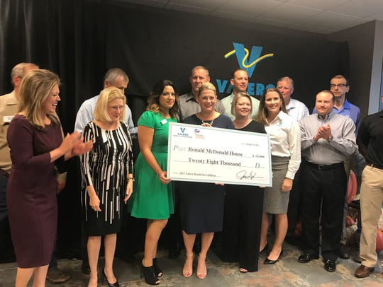 The Ronald McDonald Home received $28,000 from the