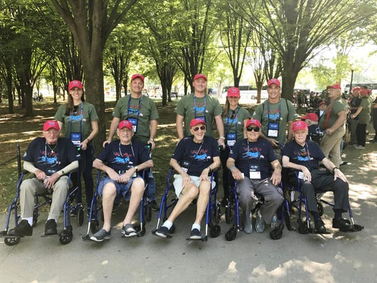 Dyer Chevrolet staff and family members served as guardians to a number of World War II and Korean War veterans on the recent Honor Flight mission to Washington, D.C.