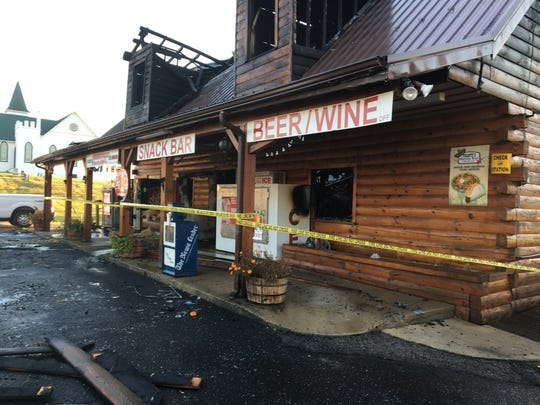 A fire at the Greenville Grocery store broke out around