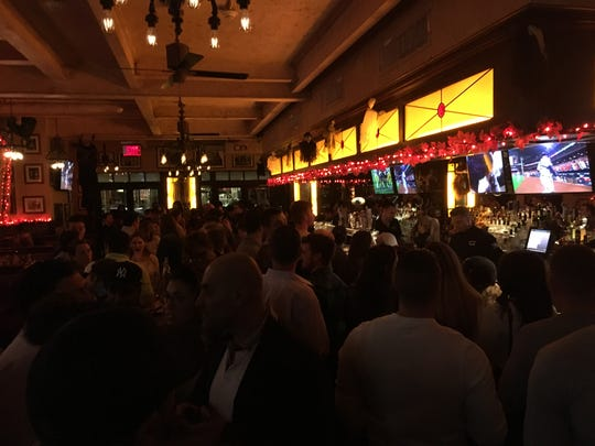 Yankees fans packed into Brazen Fox in White Plains on Saturday night to watch the game