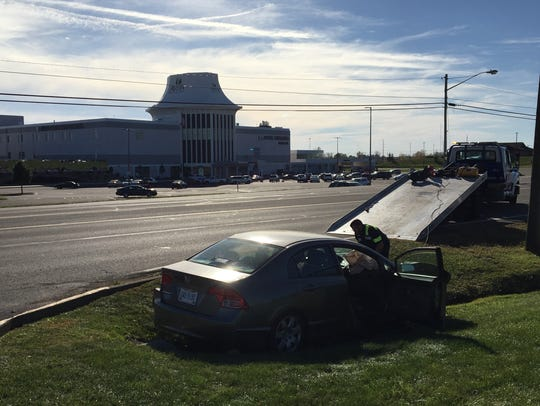 Minor injuries were reported after two cars collided