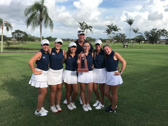 The Estero High School girls golf team finished second at the Class 2A-Region 7 tournament on Monday, Oct. 23, 2017 at Vineyards Country Club to qualify for the state tourney.