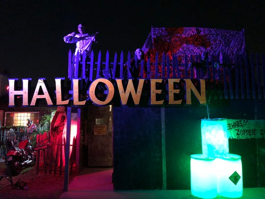 The home at 1920 Ninth St. in Oxnard offers a must-see Halloween display.
