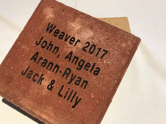 Donors will be able to purchase engraved bricks to