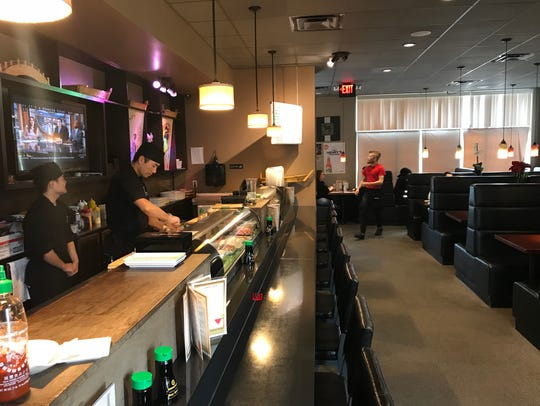 Ninja Japanese Steakhouse features a sushi bar with a variety of specialty rolls.