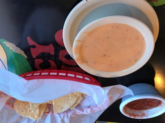 Chips and queso at Spicy Mexico