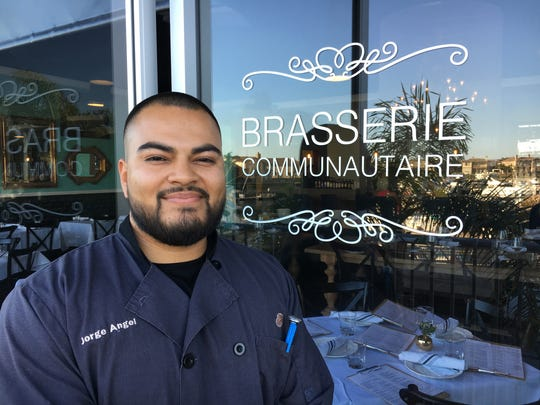 Jorge Angel, an Oxnard native who earned his culinary degree at Le Cordon Bleu in Pasadena, started working at Brasserie Communautaire under its original chef and owner. Although its signs have yet to change, the restaurant is now known as Cocovin, with Angel in charge of the kitchen.