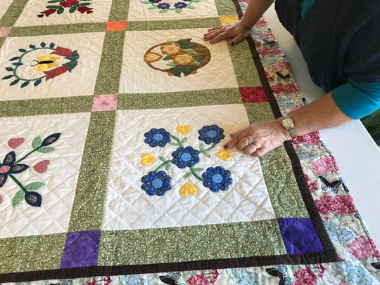 A quilt entered into competition for the Upcountry