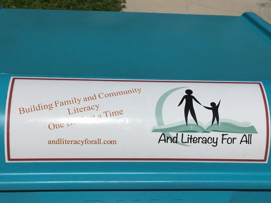 """Mary Corrigan and her husband, Ed Kleinow, have started a nonprofit called """"And Literacy for All."""" Their drive is to bridge the reading gap in Lee County, and have launched projects ranging from free book giveaways at schools to setting up Free Little Libraries around Fort Myers."""