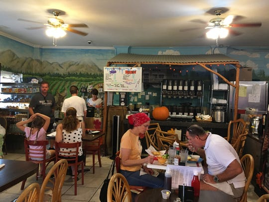 The dining rooms at Perfect Cup offer an island vibe in a diner that serves food befitting a pricier establishment.