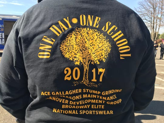 A T-shirt notes the 10th anniversary of the One Day
