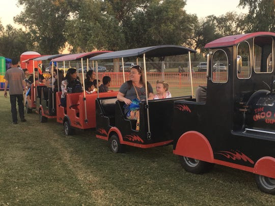 The train ride at the Oct. 28 Scottsdale Halloween