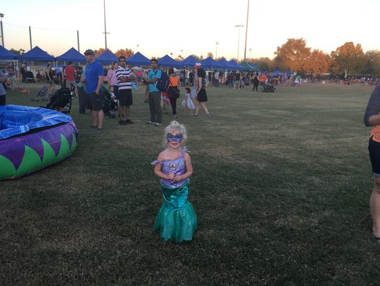 One little girl at the Halloween celebration on Oct.