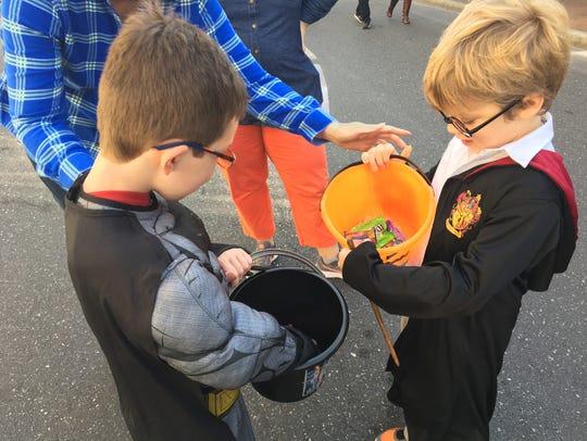 Staunton residents Oliver Torrens, 6, dressed as Batman,
