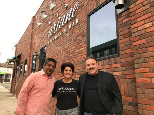 From left, chefs Floyd Cardoz and Ariane Durate join Newman Cares' founder Tommy Conroy, all of Verona, for Dine 4 A Difference, to benefit the American Foundation for Suicide Prevention on Nov. 9, 2017.