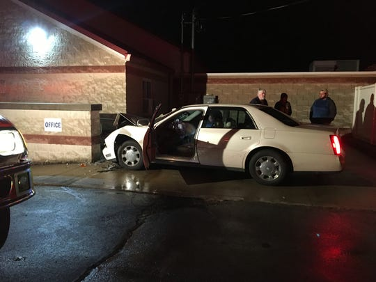 One woman was taken to the hospital after a car crashed into a Madison Township church on Monday evening. The damage to Lincoln Heights Baptist Church at 512 N. Stewart Rd. was minimal.