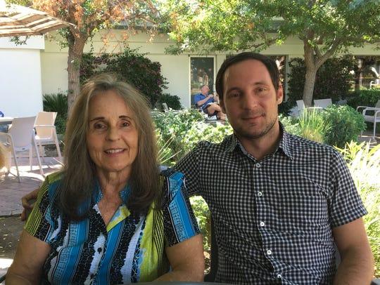 Pat Bergmann on left, and her son Patrick Baker, are