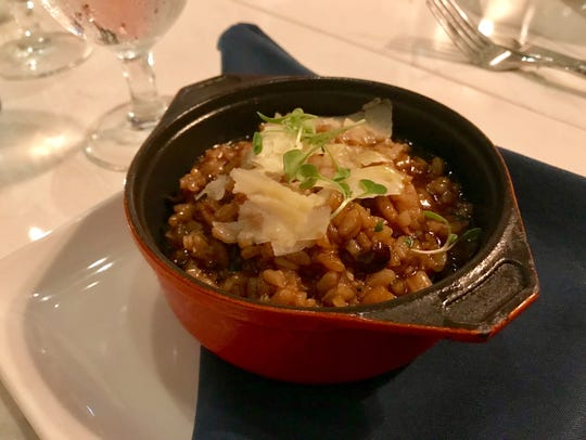 Risotto with mushrooms, veal jus and Parmesan, from