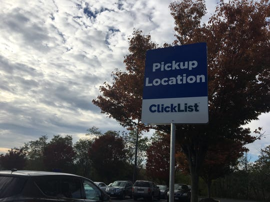 Parking spots available for Kroger's new option ClickList in Staunton, which allows customers to order groceries online and pick them up, without leaving their cars.