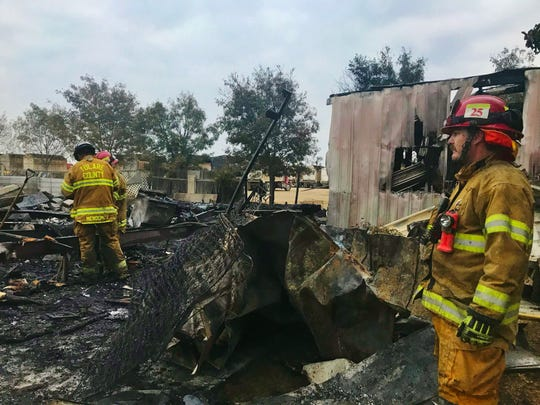 Tulare County firefighters were called to a mobile home fire just after 4 a.m. Thursday at Avenue 232 and Road 48.