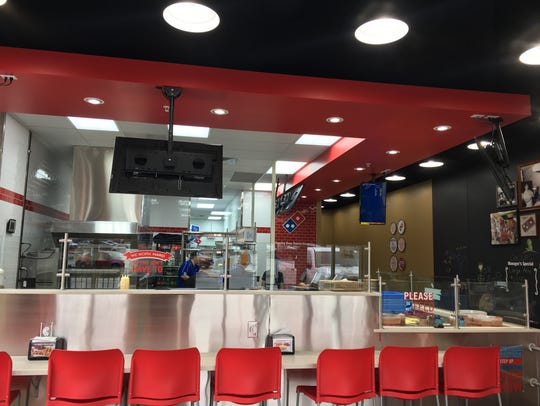 The new Domino's Pizza,2448 University Ave., features