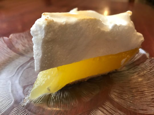 Lemon meringue pie at Nicolet Restaurant, De Pere.