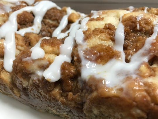 Dutch apple pie bread at Misty's Menu in Saratoga.