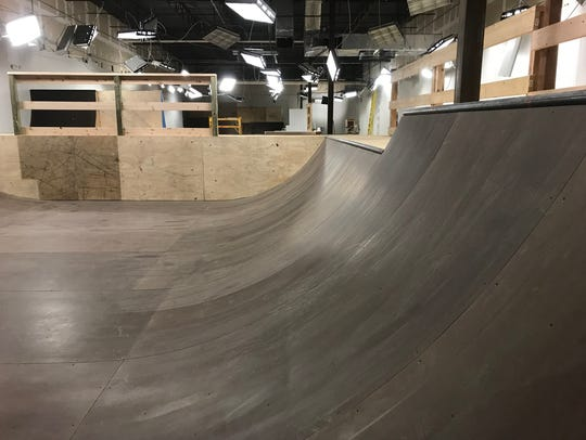 A view of the ramps at the new Battleground skate park