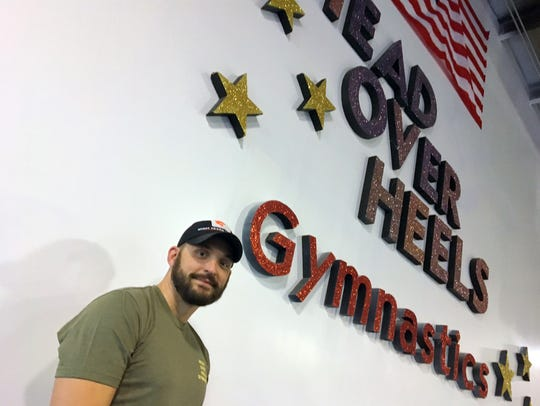 Phillip Kauffman, owner of Head Over Heels Gymnastics.
