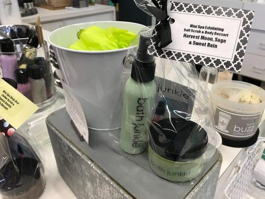 A spa bath gift set found at Bath Junkie in Carmel.