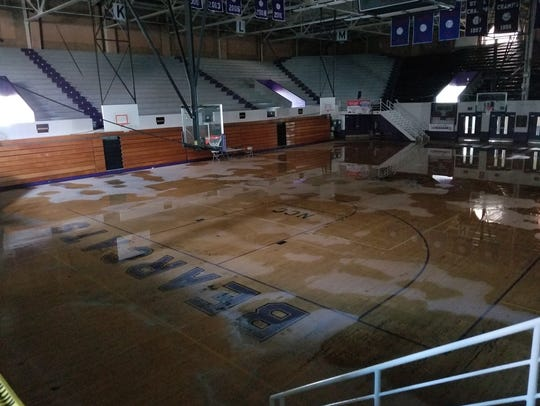 Bill Harrell Court was covered in water after sprinkler