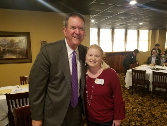 State Rep. Stan Lambert meets with Rotary assistant
