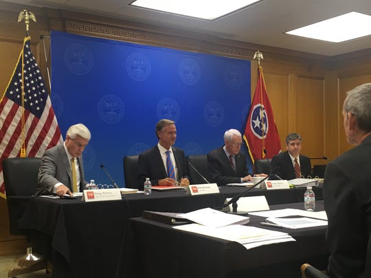 Eight government agencies presented their budget proposals in hearings before Gov. Bill Haslam and his advisers Monday, as the exiting governor prepares for his final budget.