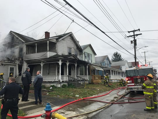 Fire on Robinson Street in Binghamton on Nov. 7.